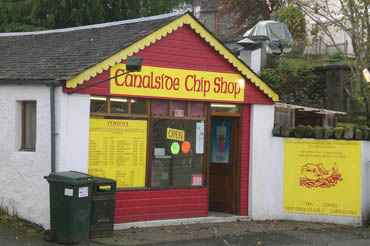 Canal Side Chip Shop Fort Augustus Over Looking The Caledonian Canal
