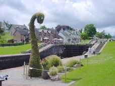 The Loch Ness Monster on Canal Side in Fort Augustus