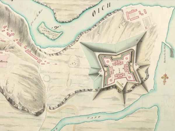 Abbey Cottage C1747 Map
