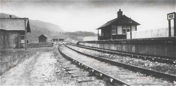 Fort Augustus Pier Station 1930s