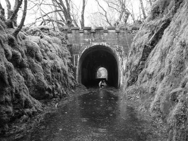 One of the tunnels on the line after closure