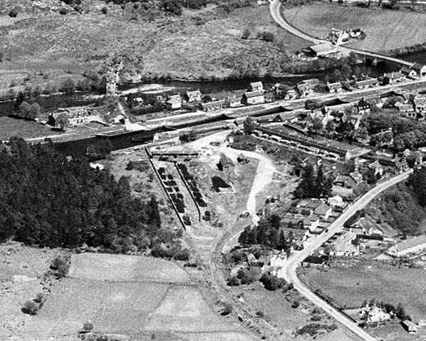 Fort Augustus Station after closure from the air