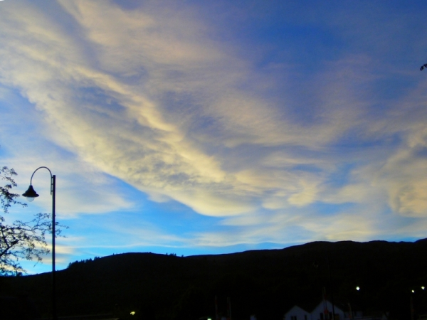 Sunset over Fort Augustus