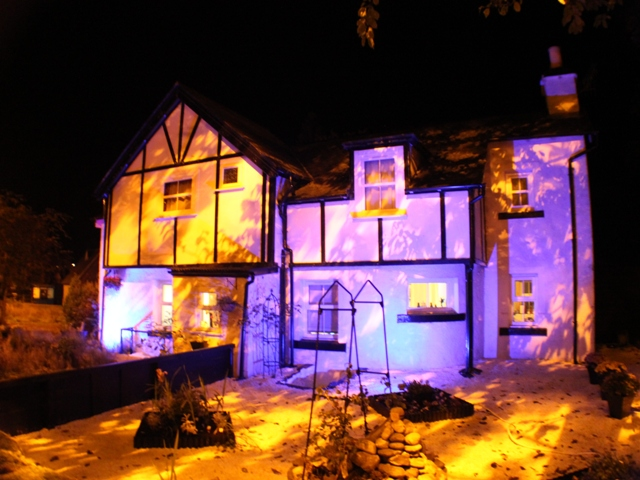 Abbey Cottage by Night