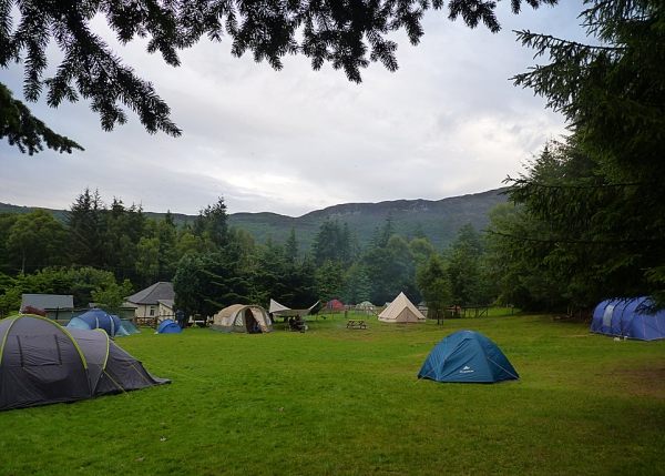 Inver Coille Camp Site Near Fort Augustus